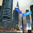 Shanghai Pudong Avenue city night scenery — Stock Photo