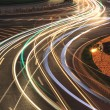 Urban highway light trails night  — Stock Photo