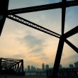 Stock Photo: Steel structure bridge