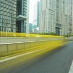 Shanghai Lujiazui city landscape of street scene streetscape — Stock Photo