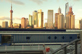 Lujiazui Finance&Trade Zone of Shanghai skyline — Stock Photo