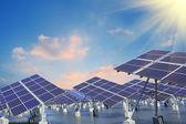 Industrial photovoltaic installation — Stock Photo