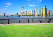Shanghai landmark skyline — Stock Photo