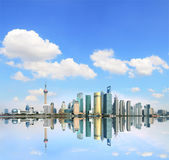 Shanghai's modern architecture cityscape skyline in the Far East — Stock Photo