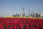 Shanghai bund gród skyline w nowym mieście krajobraz — Zdjęcie stockowe