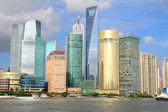 Shanghai Lujiazui city skyline — Stock Photo