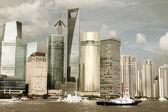 Shanghai lujiazui skyline van landschap — Stockfoto