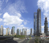 The street scene of the century avenue in shanghai Pudong — Stock Photo