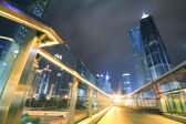 Far East city of Shanghai Lujiazui Night scenery — Stock Photo