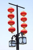 Chinese lanterns hanging — Stock Photo