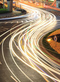 City ring road light trails night — Stock Photo