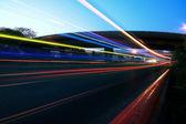 高速道路橋の夜 — ストック写真