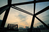 Steel structure bridge — Stock Photo