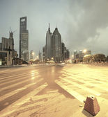 Lujiazui Finance&Trade Zone of modern urban architecture — Stock Photo