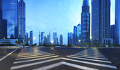 Lujiazui Finance,Trade Zone of modern urban architecture — Stock Photo