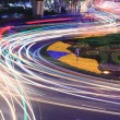 City ring road light trails night in Shanghai — Stock Photo