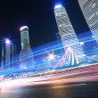 Rainbow light trails on the ring road in Shanghai — Stock Photo #46063259