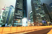 Shanghai lujiazui carretera por la noche — Foto de Stock