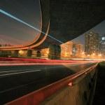 Highway bridge at Night — Stock Photo