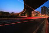 Large urban highway long exposure photo light  night scene — Foto Stock