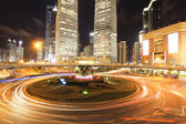 上海陆家嘴公路在晚上 — 图库照片