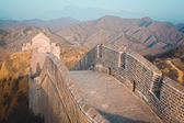 China great wall of  in winter — Stock Photo