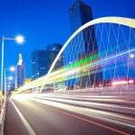 Modern arc bridge — Stock Photo #46485319