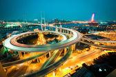 Shanghai spiral bridge — Stock Photo