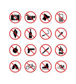 16 禁止标志图标 — 图库矢量图片