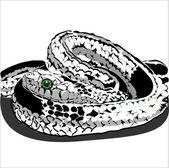 Orm. vectorial illustration av orm, symbol 2013 år — Stockvektor