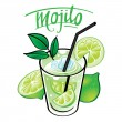 Mojito drink beverage — Stock Vector