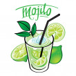 Stock Vector: Mojito drink beverage