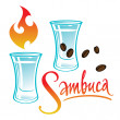 Stock Vector: Exotic alcohol drink Sambuca