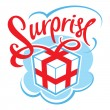 Stock Vector: Gift box surprise
