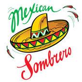Sombrero mexicano — Vetorial Stock