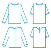 Sada různých košile — Stock vektor