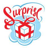 Gift box surprise — Stock Vector