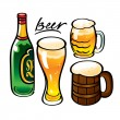 Beer alcohol drink - Stock Vector