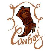Cowboy — Stock Vector
