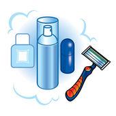 Shaving — Vettoriale Stock