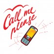 Call me please cell phone - Stock Vector