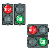 Stop and Go — Stock Vector