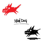 Mad Dog — Stock Vector