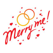 Merry Me — Stock Vector