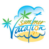 Summer Vacation — Stock Vector