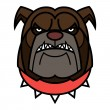 Stock Vector: Angry Bulldog