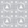 Winter pattern silver snowflakes — Stock Vector