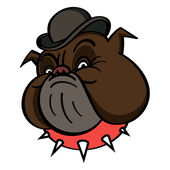 Dog in Bowler — Stock Vector