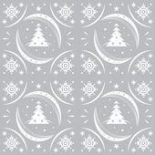 Winter pattern silver snowflakes — Vector de stock