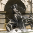 Neptune fountain sculpture details — Stock Photo